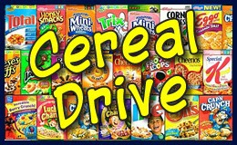 Cereal Drive for local food pantries