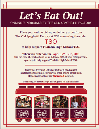 Flyer for TSO Dine Out