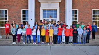 science olympiad students in front of Cahaba Elementary