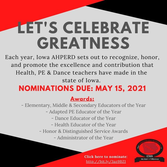 Nominate someone you know for teacher of the year today!