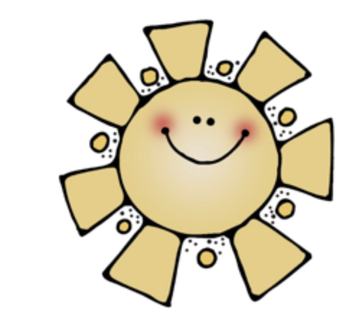 yellow sunshine with smiley face