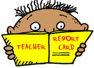 Report Cards come home!