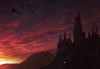 Enjoy a Magical Sunrise at Hogwarts with calming music.