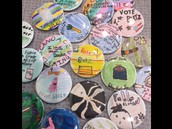 Buttons made in our Maker Space
