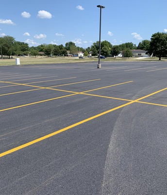 We have a new parking lot!