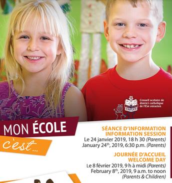 Inscription à la maternelle 2019-2020