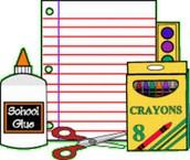 Supply List for Third Grade