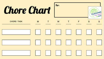 Home Chore Chart