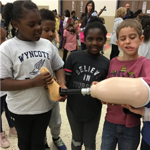 Wyncote Hosts Local Author Jocelyn Hoffman, Learns about Disabilities and Prosthetics