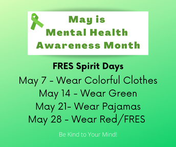Picture of Mental Health Awareness Month Spirit Days flyer