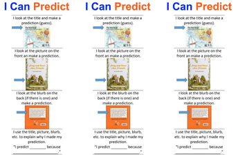 Reading Strategy for Parents and Children: Making Predictions - Grades K-5