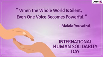 Suggested Reading for International Human Solidarity Day on December 20