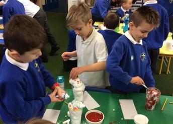 Y2 children making 'George's Marvellous Medicine.'