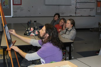 artist drawing for students