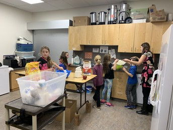 Baking muffins for hungry students