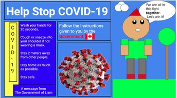 Student Created COVID poster
