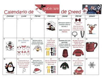 Vestimenta para los Días Festivos. Calendario comienza a partir del 6 de diciembre de 2018
