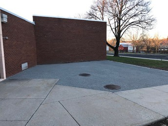 Out New Outdoor Classroom Space Waiting for Tables!