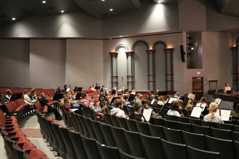 The band practices in the PAC.