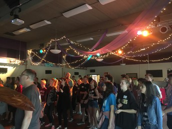 Area youth gather at the Wesley to worship God!
