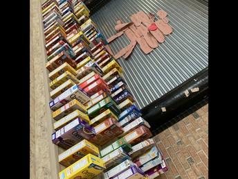 Over 260 boxes - what a tremendous effort Lions!