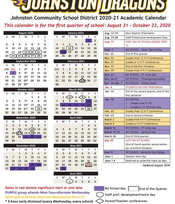 Revised Academic Calendars