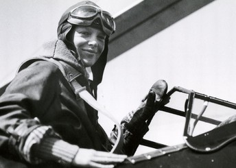 Amelia Earhart is the first woman to cross the Atlantic in an airplane, 1928