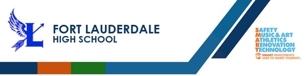 A graphic banner that shows Fort Lauderdale High School and logo