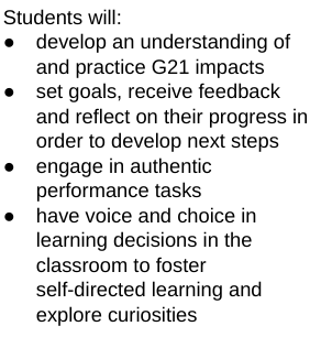 Student Actions