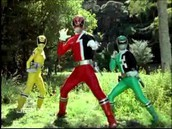 power rangers after making it through the wormhole 21 years into the past
