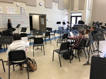 AP Music Theory students engage in discussion in a recent class