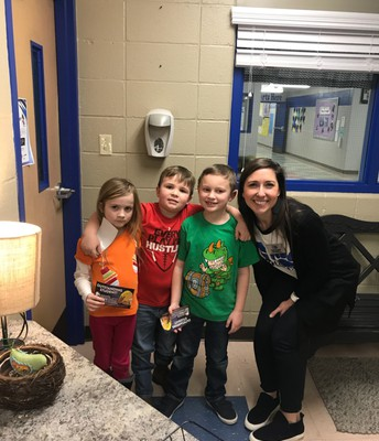 Mrs. Manning celebrates with PRIDE winners!!!