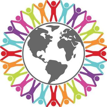 Graphic symbolizing English language learners