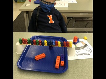 Harris Loved Creating His Bear Bridge in High Ability with Mrs. Asher!