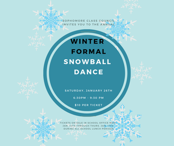 WINTER DANCE: January 26, 2019 6:30 pm - 9:30 pm