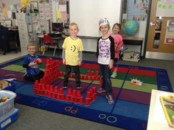 Doing a little stacking with our 100 cups