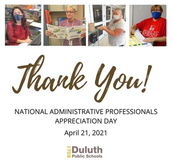 Thank You, Duluth Administrative Professionals