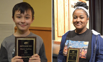 District Spelling Bee Champ Named
