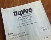 HyVee Receipts