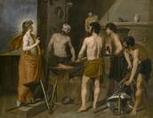 A Oficina de Vulcano, pintada por Diego Velázquez