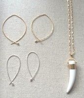 Hammered Wire Hoops