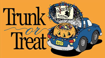 Trunk or Treat Re-scheduled  until Tuesday, October 30th!