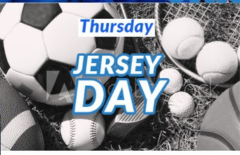 Thursday:  Jersey Day