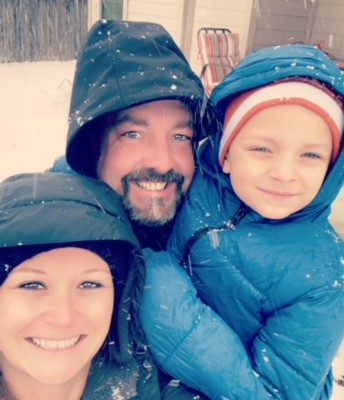 Mrs. McDade (2nd Grade) & Family! Beautiful Smiles & Snow!