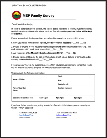 Updated Family Work Survey