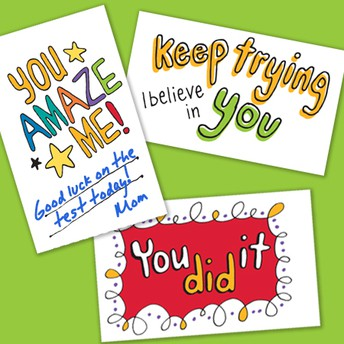 PSSA Encouragement Cards - Grades 3,4,5
