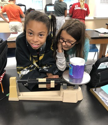 Practice measuring with a triple beam balance