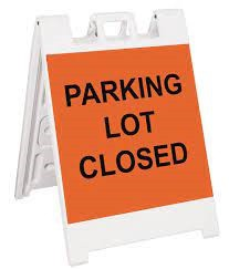 Part of Parking Lot Closed Through the First Week of May