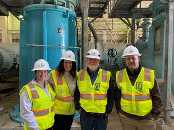 Staff attends tour of water treatment plant
