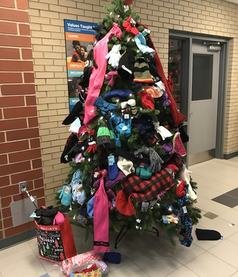 Hats, Mittens, and Scarves Tree